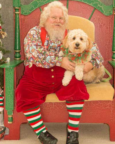 Dog Pictures with Santa Paws with old school santa