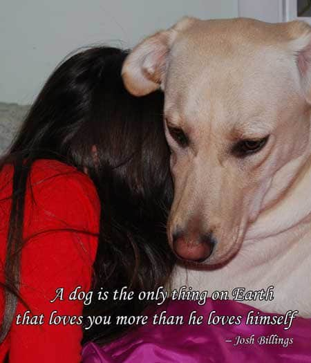 Dog Pictures with words of truth., A dog is the only thing on Earth that loves you more than he loves himself.