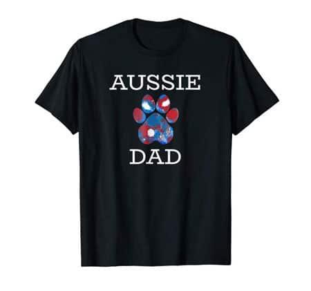 Aussie dad men's dog t-shirt black