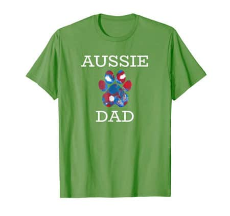 Aussie dad men's dog t-shirt grass
