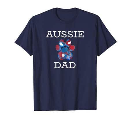 Aussie dad men's dog t-shirt navy