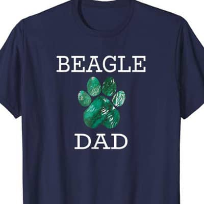 Barking Laughs Dog Dad shirt for the Beagle