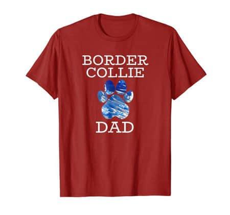 Border Collie Dad Men's dog t-shirt cranberry