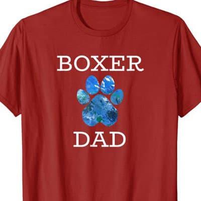 Boxer Dog Dad shirt