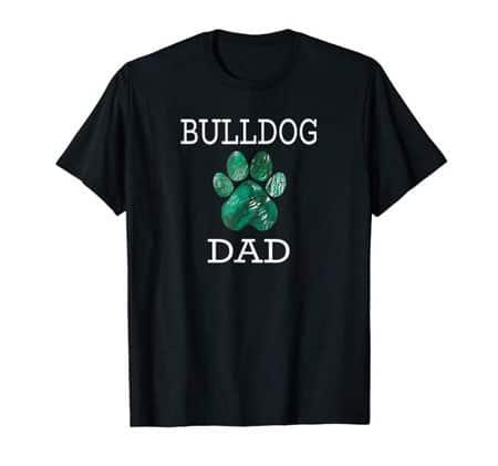 Bulldog Dad Men's dog t-shirt black