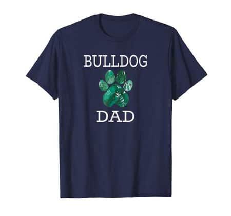 Bulldog Dad Men's dog t-shirt navy