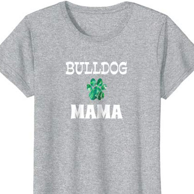 Barking Laughs Dog Mom shirt for the Bulldog