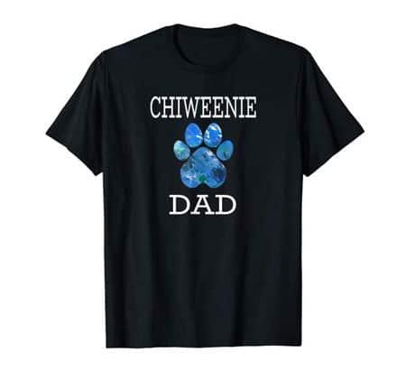 Chiweenie Dad Men's dog t-shirt black