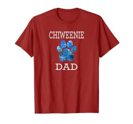 Chiweenie Dad Men's dog t-shirt cranberry