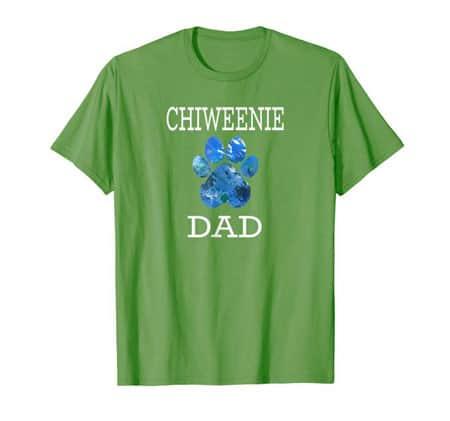 Chiweenie Dad Men's dog t-shirt grass
