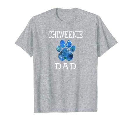 Chiweenie Dad Men's dog t-shirt gray