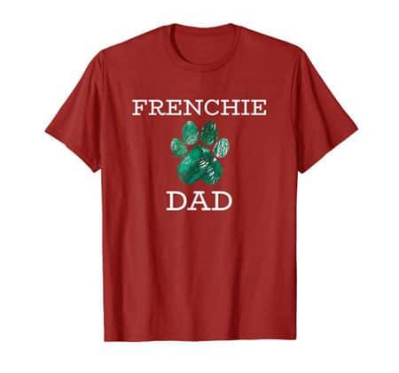 Frenchie dad men's dog t-shirt cran