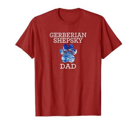 Gerberian Shepsky Dad Men's dog t-shirt cran