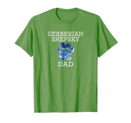 Gerberian Shepsky Dad Men's dog t-shirt grass