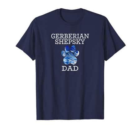 Gerberian Shepsky Dad Men's dog t-shirt navy