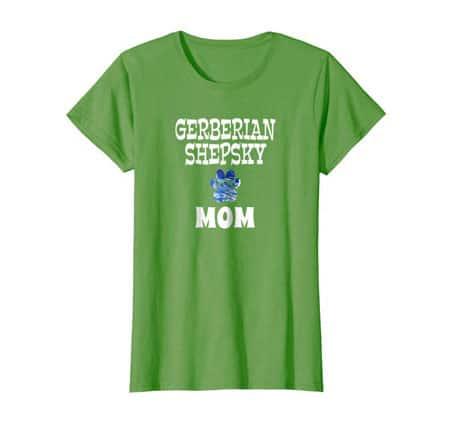 Gerberian Shepsky Mom women's dog t-shirt grass