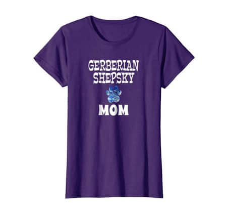 Gerberian Shepsky Mom women's dog t-shirt purple