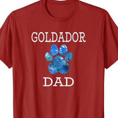 Goldador Dog Dad shirt