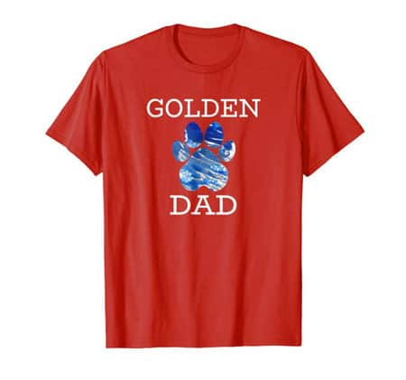 Golden Retriever Dog Dad Shirt Red