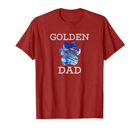 Golden Retriever Dog Dad Shirt cran