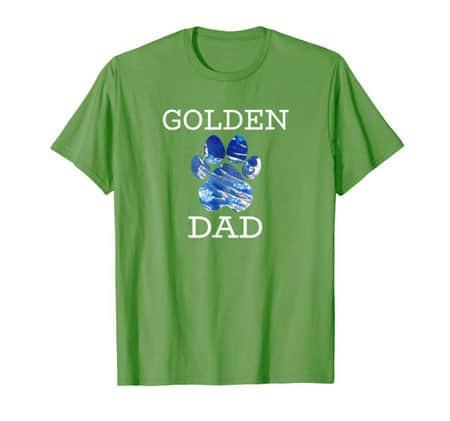 Golden Retriever Dog Dad Shirt grass