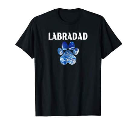 Labradad Dog Dad t-shirt black