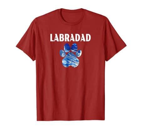 Labradad Dog Dad t-shirt cranberry