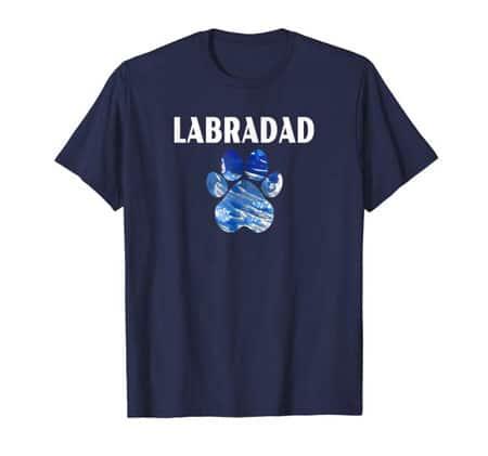 Labradad Dog Dad t-shirt navy