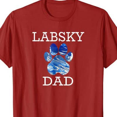 Barking Laughs Dog Dad shirt for the Labsky