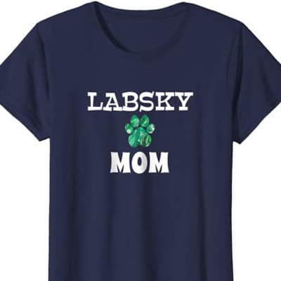 Barking Laughs Dog Mom shirt for the labsky