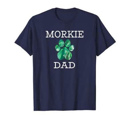 Morkie Dad Men's dog t-shirt navy