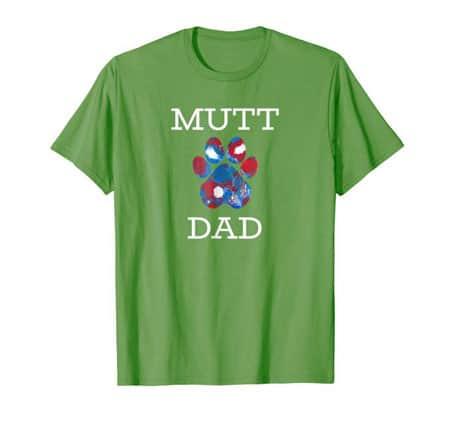 Mutt Dad men's dog t-shirt grass