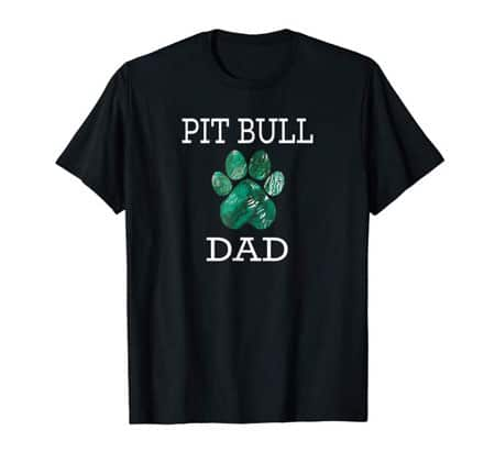 Pit Bull Dad Men's dog t-shirt black