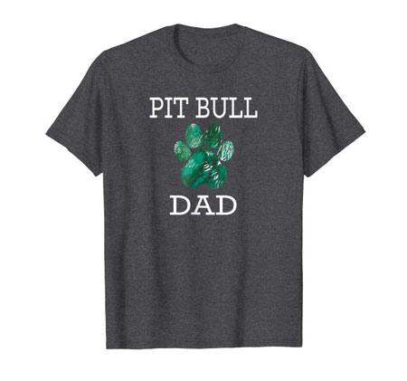 Pit Bull Dad Men's dog t-shirt dark gray