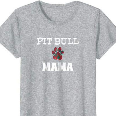 Barking Laughs Dog Mom shirt for the pit bull
