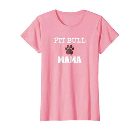 Pit Bull Mama Dog Mom t-shirt pink