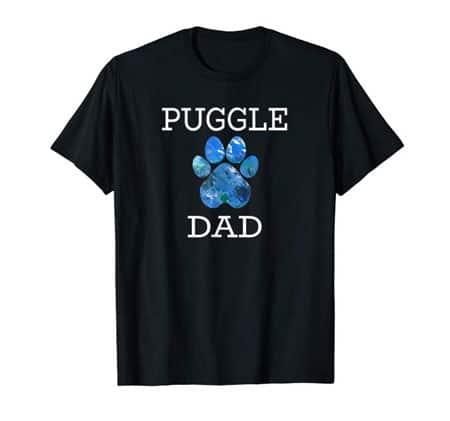 Puggle Dad Men's dog t-shirt black