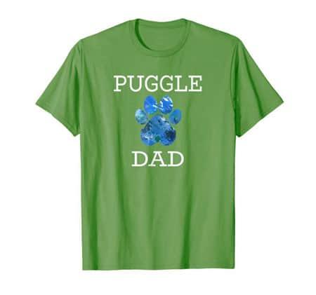 Puggle Dad Men's dog t-shirt grass