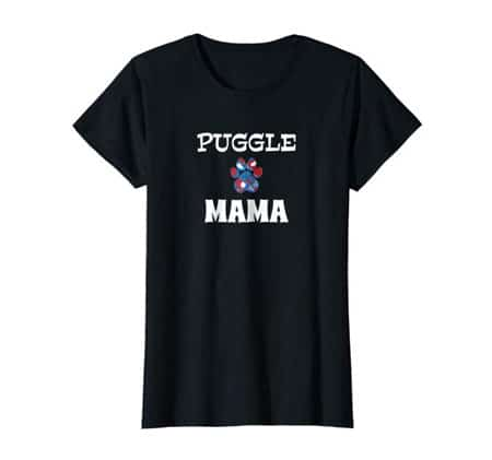 Puggle Mama Dog Mom t-shirt black