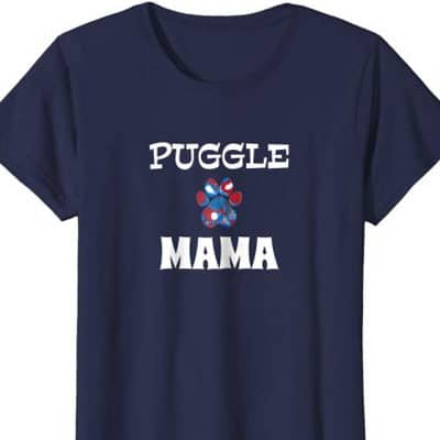 Barking Laughs Dog Mom shirt for the Puggle