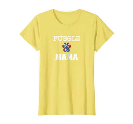 Puggle Mama Dog Mom t-shirt yellow