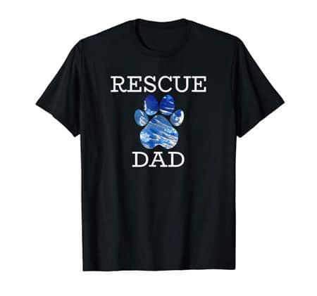 Rescue Dad Men's dog t-shirt black
