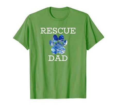 Rescue Dad Men's dog t-shirt grass