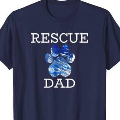 Rescue Dog Dad shirt