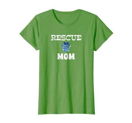 Rescue Dog Mom Shirt grass