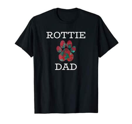 Rottie Dad men's dog t-shirt black