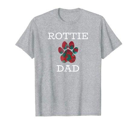 Rottie Dad men's dog t-shirt gray