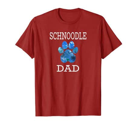 Schnoodle Dad Men's dog t-shirt cranberry