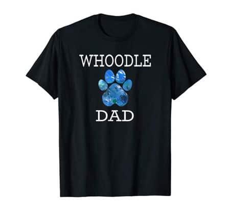 Whoodle Dad Men's dog t-shirt black