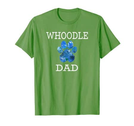 Whoodle Dad Men's dog t-shirt grass